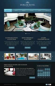 Lavish Luxury Hotel Web Design, Can you say elegance? #hotel #webdesign #luxuryhotel