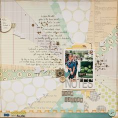 Journal of Curious Things: January 2013  love the pattern paper mix