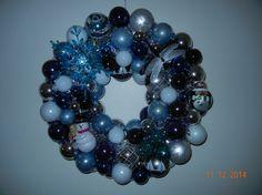 Winter wonderland wreath Blues whites by ForeverYoursCustom