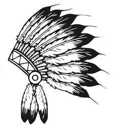 Illustration of native american indian chief headdress indian chief mascot, indian tribal headdress, indian headdress vector art, clipart and stock vectors. Native American Headdress, Native American Symbols, American Indians, Native Indian, Indian Art, Tattoo Indio, Chiefs Mascot, Feather Headdress, Indian Headdress Tattoo
