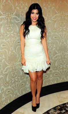 Kourtney Kardashian Attends Sister Kim's Engagement Party, LA, June 2011