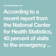 According to a recent report from the National Center for Health Statistics, 40 percent of visits to the emergency room (ER) by nursing facility. Cpt Codes, Caring Company, In Writing, Statistics, Assessment, Nursing, Health Care, Medical