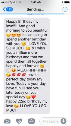 Today is my birthday and he surprised me with this sweet message ☺♥️ Happy Birthday Best Friend Quotes, Birthday Quotes For Girlfriend, Birthday Message For Boyfriend, Happy Birthday My Love, Birthday Message To Girlfriend, Birthday Wish For Husband, My Birthday Quotes, Sweet Birthday Messages, Today Is My Birthday