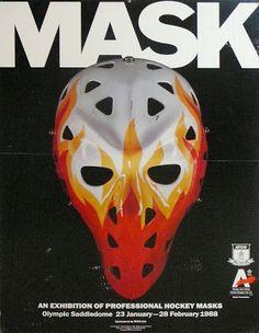 I was digging through the closet again and noticed a lot of mask stuff that hadn't received a lot of appreciation recently. Hockey Helmet, Hockey Goalie, Ice Hockey, Hockey Posters, Hockey Logos, Nhl, Goalie Mask, Hockey Cards, Calgary