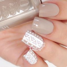 If you're thinking nude is boring, think again. We've rounded up 15 nude nail designs that will change the way you go nude forever. Trendy Nail Art, Cool Nail Art, Romantic Nails, Ring Finger Nails, Tribal Nails, Cute Nail Art Designs, Nail Art Brushes, Super Nails, Acrylic Nail Art
