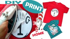 """DIY PRINT ON T-SHIRT AT HOME DR. SEUSS PICTURE HOW TO PRINT DR.SEUSS PICTURE ON YOUR SON T-SHIR AT HOME WITH EASY AND FAST WAY..BUT REMEMBER """" ALWAYS COLD WASH :) """" #printonshirt #printathome #fabricprint #costumyourtshirt"""