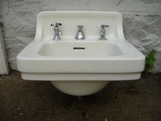 Wall-mounted sink, c1940s