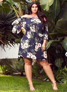 Plus Size Off the Shoulder Floral Dress - Ageless style - Refined yet, not defined - Style guide