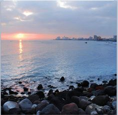 Beautiful sunset in Boca del Rio, Veracruz. Mexico - awesome seafood there, too! Gotta go back!