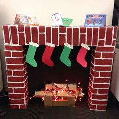 DIY Faux Fireplace Made From Wardrobe Cardboard Boxes | Fake ...