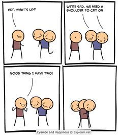 Cyanide and Happiness goes for sweet.  Who could have guessed.