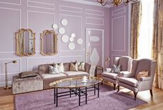 Mikado Suite at the Grand Hotel Oslo, Purple takes center stage in this beautiful traditional style room