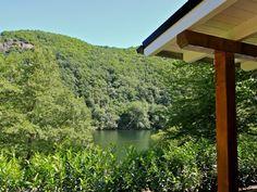 Chalet Seeblick Heimbach  - Seeblick von der Terrasse