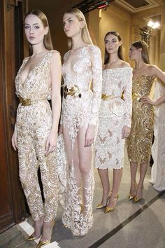 Haute Couture // Models waiting to hit the stage, Zuhair Murad ss14