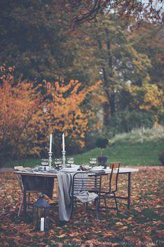 Autumn Al Fresco Home Interior Design, Interior Decorating, Decorating Ideas, Outdoor Venues, Al Fresco Dining, Autumn Inspiration, Fall Season, Outdoor Spaces, Outdoor Dining