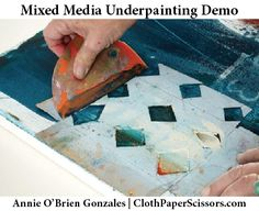 Mixed-media painting lessons-So you want to create a mixed-media painting that includes both acrylic and oil paint. If you want to use both of these paints, you need to know that it matters which you put on the canvas first. Annie O'Brien Gonzales addresses this approach and much more in her new book, Bold Expressive Painting: Painting Techniques for Still Lifes, Florals and Landscapes in Mixed Media. The following is an excerpt that features a mixed-media painting