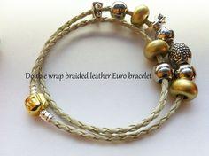 Double wrap leather bracelets . Starting at $9 on Tophatter.com!    Euro Bracelet Supplies No.83 April 2, 8pm EDT