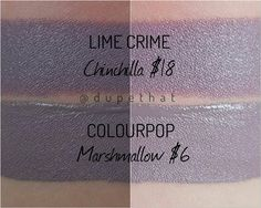 "5,775 Likes, 219 Comments - DUPETHAT (@dupethat) on Instagram: ""In case you were wondering how @colourpopcosmetics Marshmallow compared to Lime Crime's Chinchilla.…"""