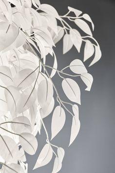 Kattovalaisin Trio Leavy Ø 700x730 mm valkoinen lähikuva