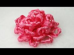 Make Ribbon Flowers, Fabric Flowers DIY, Tutorial, Knot Flower - YouTube