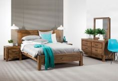 Bring modern elegance to your bedroom with the Silverwood 4 piece tall chest bedroom suite. This stylish suite comprises one queen bed, one 4 drawer tallboy, and two 2 drawer bedside chests. Queen Bedroom Suite, King Bedroom, Wood Bedroom, Dream Bedroom, Bedroom Furniture, Bedroom Suites, Bedroom Ideas, Master Bedroom, Modern Wood Furniture