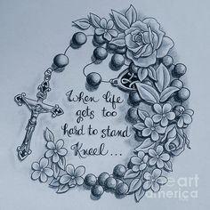 tattoo, rosary, religious, flower, greyscale, art, paint, painting, canvas, drawing, print, tattoo shop, tattoo artist, Suzanne Buttle, art for sale