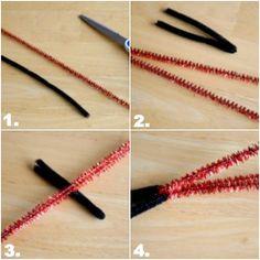 Steps to make a pipe cleaner lightsaber