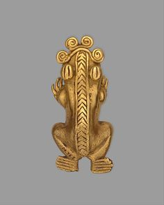 Frog Pendant Date: 11th–16th century Geography: Panama Culture: Chiriqui (?) Medium: Gold (cast)