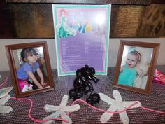 """Top of the Piano Decorations... Salt-dough Starfish, Pictures of my Princesses, and the Birthday Girl's 3-Year """"Favorites"""" question & answers!"""