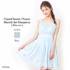 New Secret Honey Disney Elsa from Frozen Blue Sketch Art Dress #SecretHoney