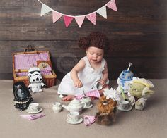Star Wars Girls, Star Wars Baby, Star Wars Birthday, 1st Birthday Girls, Birthday Ideas, Newborn Pictures, Baby Pictures, Daddy Daughter Photos, Princesa Leia