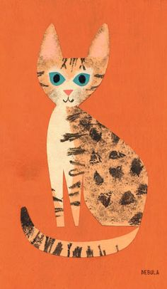 Illustration by Christian Robinson, 2011, Nebula (special kitty greatly missed by the illustrator).