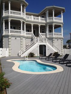 beach house pool and deck