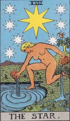 The Star (XVII) is the seventeenth trump or Major Arcana card in most traditional Tarot decks. It is used in game playing as well as in divination. Wikipedia
