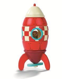 Janod Holz Magnetbausatz Rakete 18Mon+