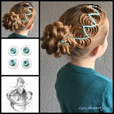 Hollywood wave ribbon braid into a bun with beautiful curlies from the webshop www.goudhaartje.nl (worldwide shipping).   Hairstyle inspired by: @_elvira_alexa and @my_babygirlshair (instagram)  #hair #hairstyle #braid #braids #hairstylesforgirls #plait #trenza #peinando #прическа #pricheska #ヘアスタイル  #髮型 #suomiletit #zöpfe #frisuren #fläta #fletning #beautifulhair #gorgeoushair #stunninghair #hairaccessories #hairinspo #braidideas #amazinghair #updo #ribbonbraid #hollywoodwaveribbonbraid