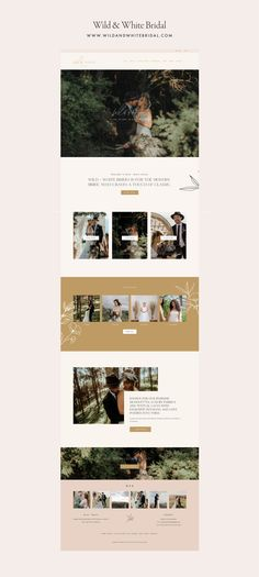 Wild & White Bridal | January Made Design | Websites & Branding