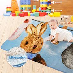 Spiel und Krabbeldecke Baby Kaninchen | ultraweich | schadstofffrei | Dayton.de