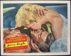 Lobby card for Jeanne Eagels with Kim Novak and Jeff Chandler