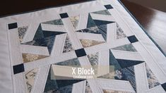 Video - Patchwork X Block - - Crazy Quilting, Crazy Quilt Blocks, Crazy Patchwork, Patchwork Quilting, Quilt Block Patterns, Pattern Blocks, Pattern Sewing, Quilted Placemat Patterns, Scraps Quilt