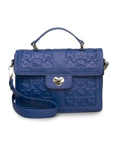 Another great find on #zulily! Blue Hello Kitty Embossed Satchel by Loungefly #zulilyfinds