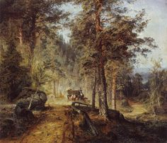 Finnish National Gallery - Art Collections - Road in Häme (A Hot Summer Day) Landscape Art, Landscape Paintings, National Gallery, Google Art Project, Paintings I Love, Romanticism, Berg, Famous Artists, Beautiful Artwork