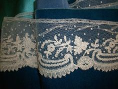 1 yd. 32 of Antique hand done 19th century lace by TextileArtLace, $188.00