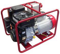 Poweri 7/13 BV - IP54 n. 5,5 kW bensiiniaggregaatti, erikoisjännitteillä. Laitteesta saa 230 V kolmivaihe jänitteen, sekä 110 V 1-vaiheisena.