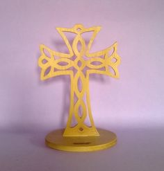 Crocifisso croce croce celtica in legno di MacchiavelliArtLegno