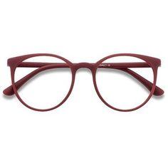 Women's Portrait - Matte Red round plastic - 18675 Plastic Rx Eyeglasses
