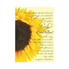 sunflower wedding invitation (or program//thank you cards)