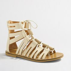 Crew Factory for the Lace-up gladiator sandals for Women. Find the best selection of Women Clothing available in-stores and online. Nike Wedge Sneakers, Nike Wedges, Shoes Sneakers, Lace Up Gladiator Sandals, J Crew Style, Shoe Game, Leather And Lace, Clothes For Women, Things To Sell