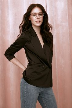 BonLook collaboration with Canadian figure skater Tessa Virtue. Wearing her BonLook design LONDON in BLUSH. Stylist: Sabrina Deslauriers Photographer: David Picard Makeup: Andrew Ly