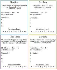 Free 30 Day Happiness Challenge Workbook
